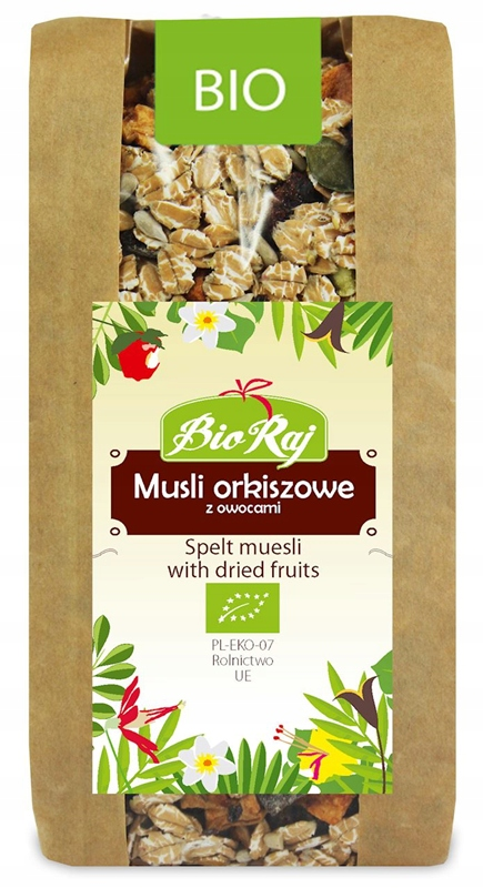 Musli Orkiszowe z Owocami BIO 300 g Bio Raj