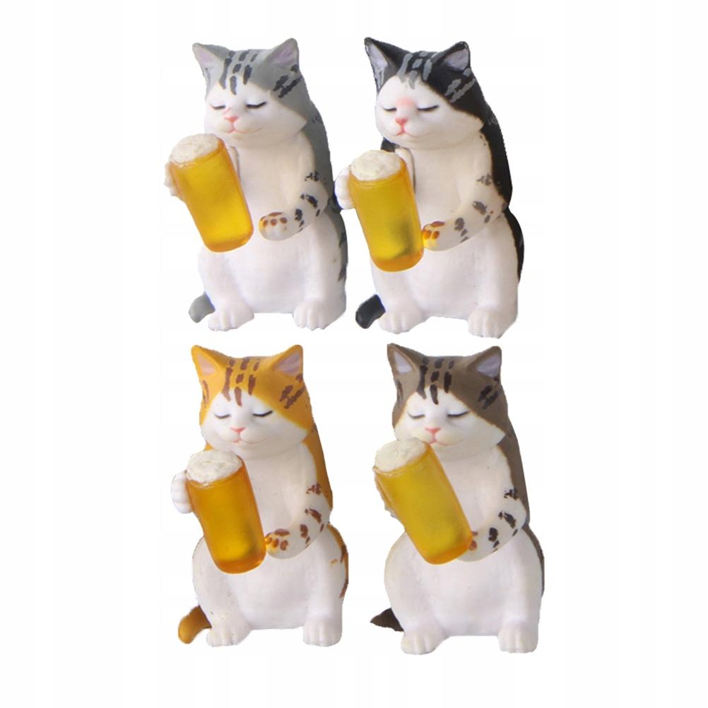 4 sztuk magnes na słodki kociak naklejki na naklej