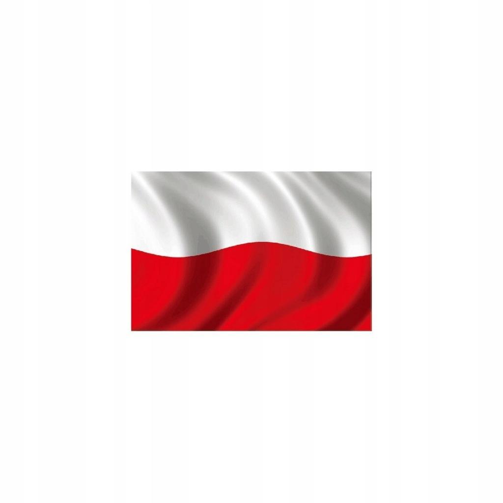 Naklejka Magnetyczna 30X20Cm Polska Flaga