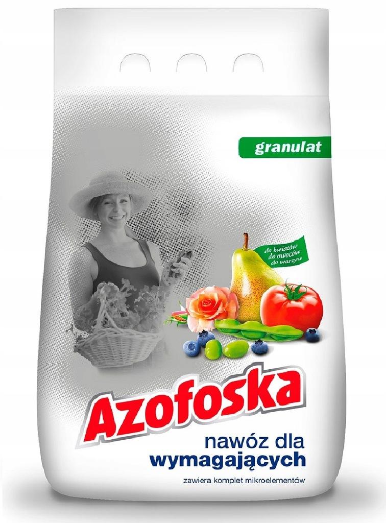 Azofoska granulat 5kg - Doskonały nawóz do ogrodu