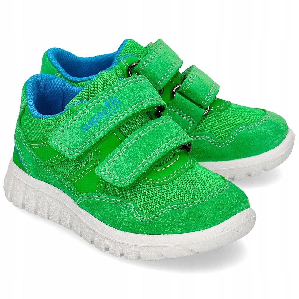 Superfit Zielone Sneakersy Dziecięce Rzepy R.28