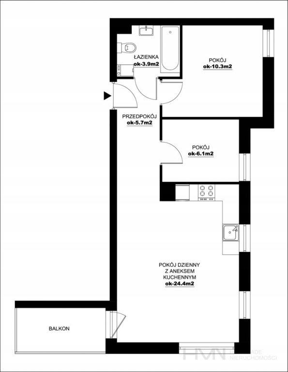 Mieszkanie, Wieliczka, Wieliczka (gm.), 50 m²