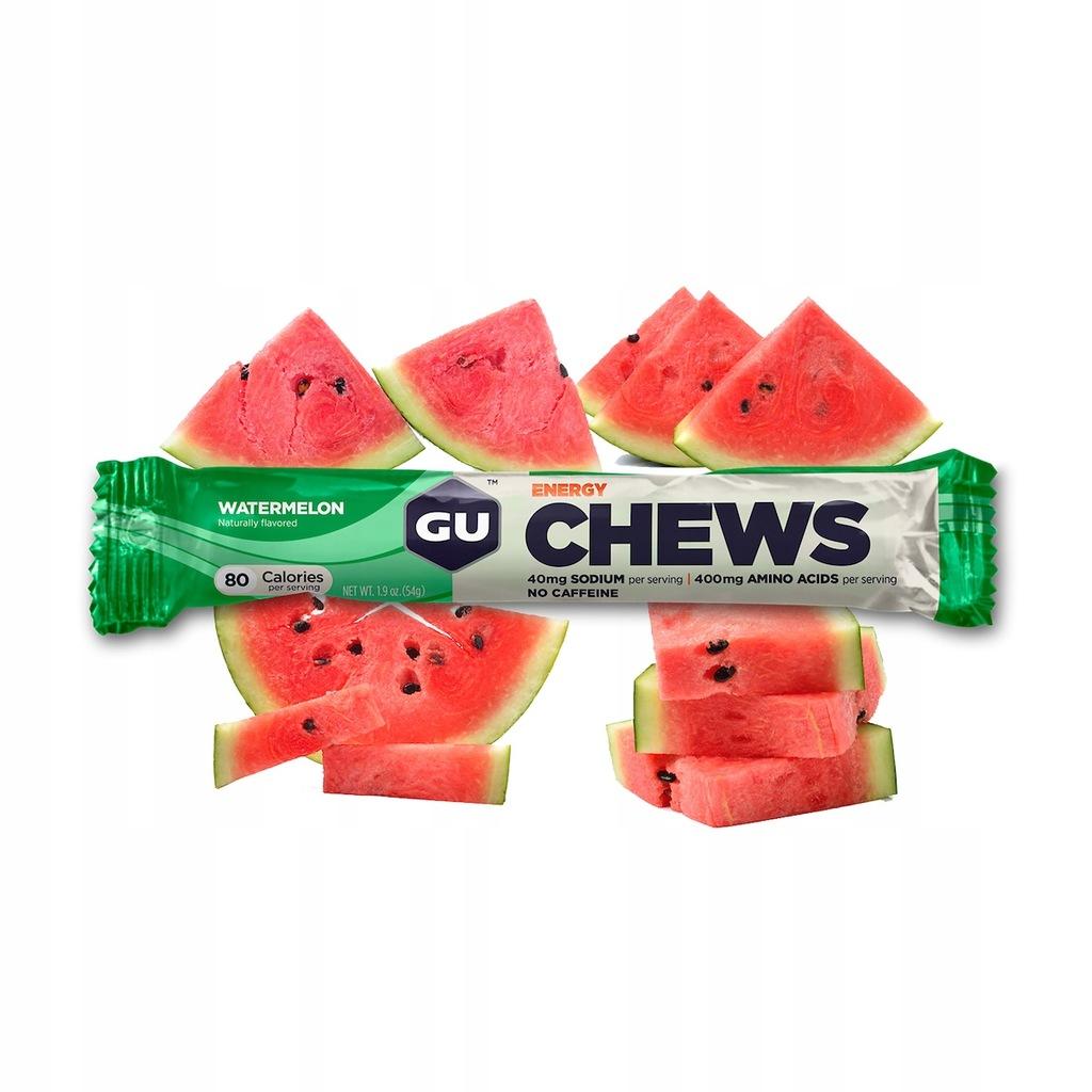 Gumy energetycznae arbuzowe Watermelon Chews 8 szt