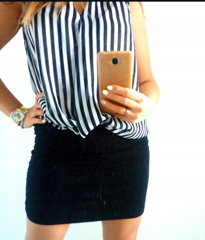 H&M spódnica czarna elastyczna 38 M mini