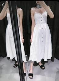 Zara sukienka na ramiączkach z guzikami XS 34