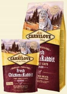 CARNILOVE CAT FRESH CHICKEN & RABBIT GOURMAND