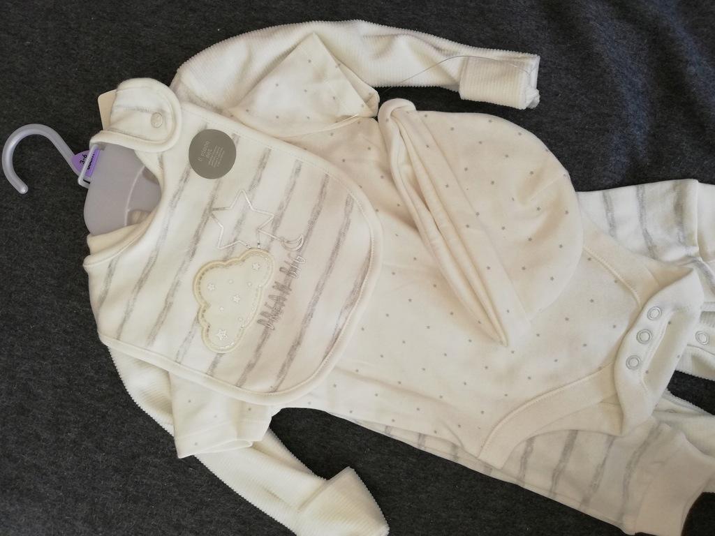 Komplet niemowlęcy - body śpiochy spodenki 68cm FF