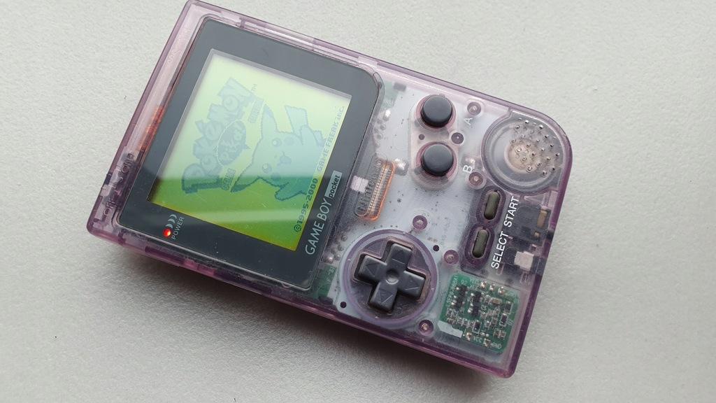 Konsola Game Boy Gameboy Pocket Transparent + Gra