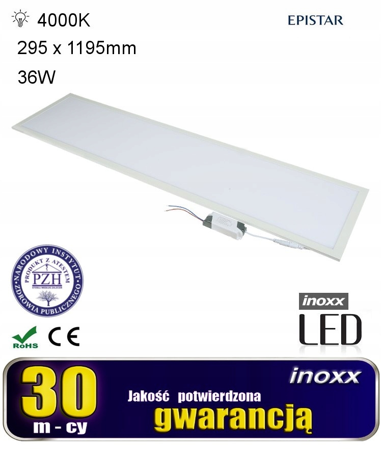 Panel led 120x30 36w lampa sufitowa slim kaseton 4