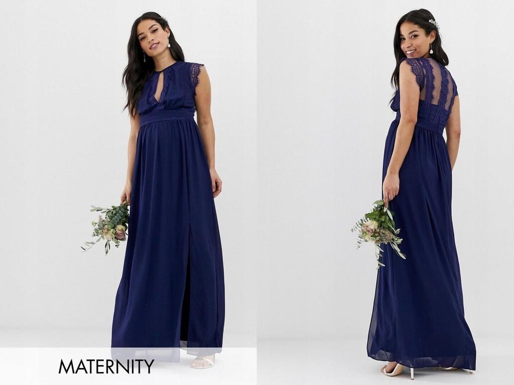 TFNC Maternity Sukienka Ciążowa Maxi Koronka M/38