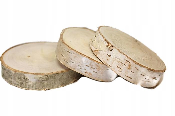Plastry drewniane krążki drewna brzoza 10-15cm