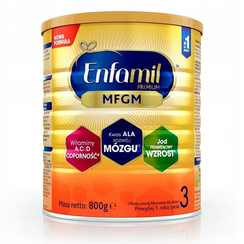 ENFAMIL 3 Premium MFGM Mleko modyfikowane 800g