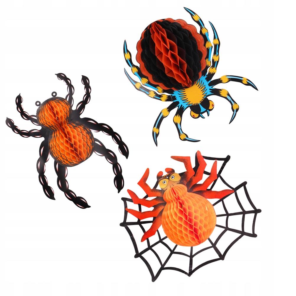 3 szt. Motyw Halloween Pająk Ozdoba Pająk Kulki