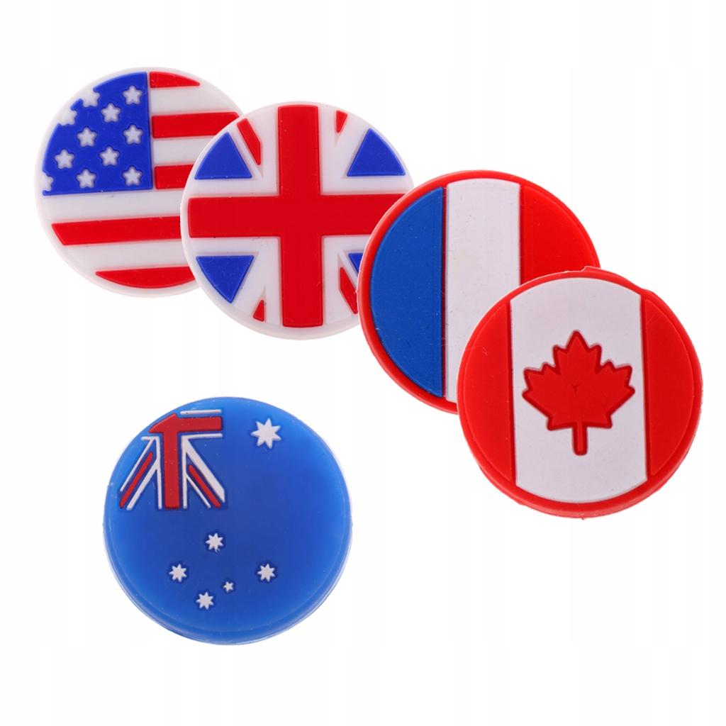Tłumik drgań tenisowych - 5 flag mieszanych
