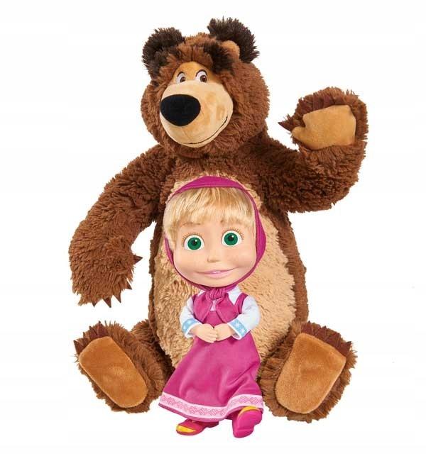 Masza i Niedźwiedź Zestaw MIŚ + Lalka Simba 2w1
