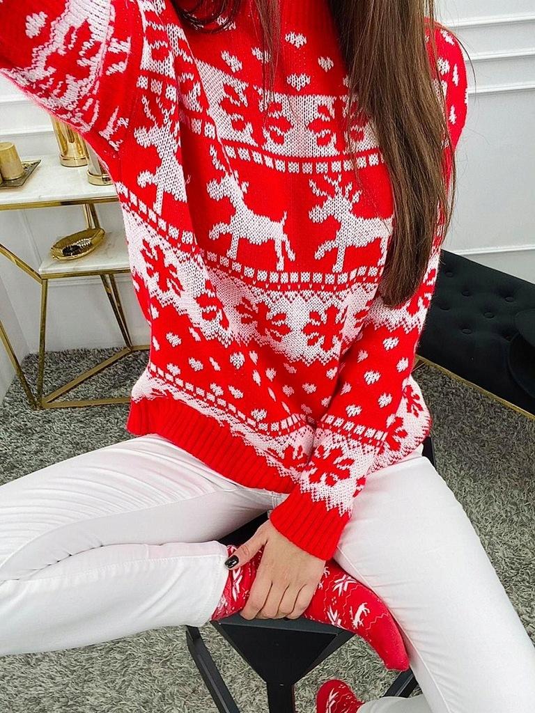 Sweter Christmas Czerwony
