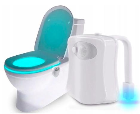 LAMPKA MULTI LED do WC TOALETY CZUJNIK RUCHU