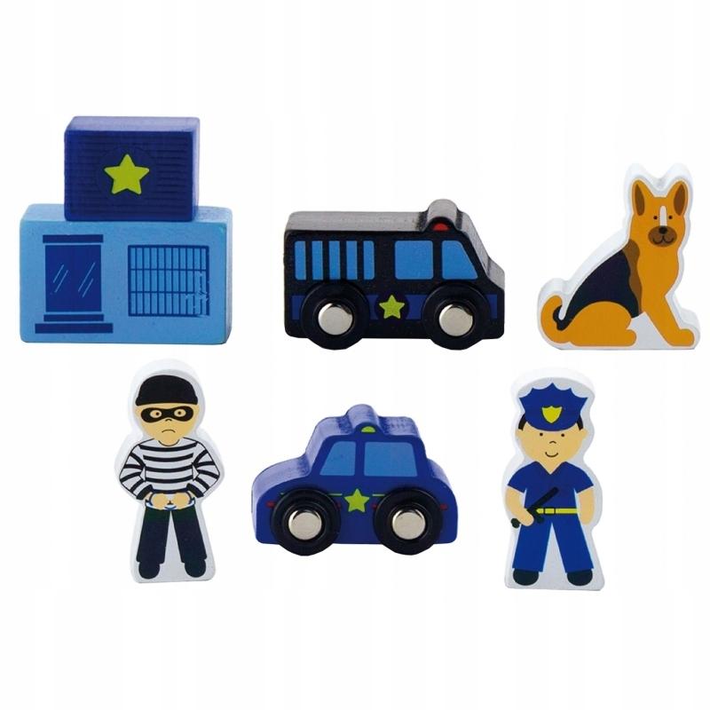 Viga Zestaw figurek Policja Akcesoria do kolejki
