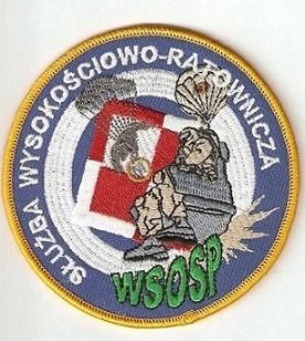 Naszywka Służba Wysokościowo-Ratownicza WSOSP.