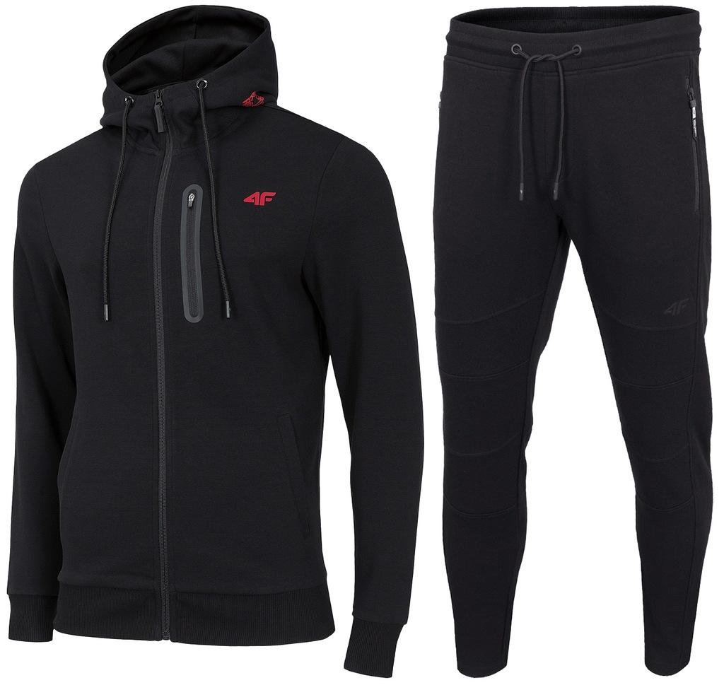 4F MĘSKIE DRESY KOMPLET Bluza 076 Spodnie 072 L