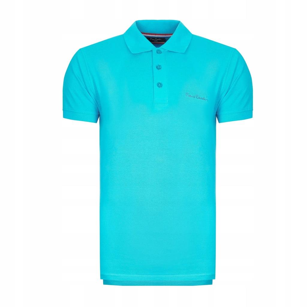 Koszulka polówka POLO PIERRE CARDIN turkusowe S