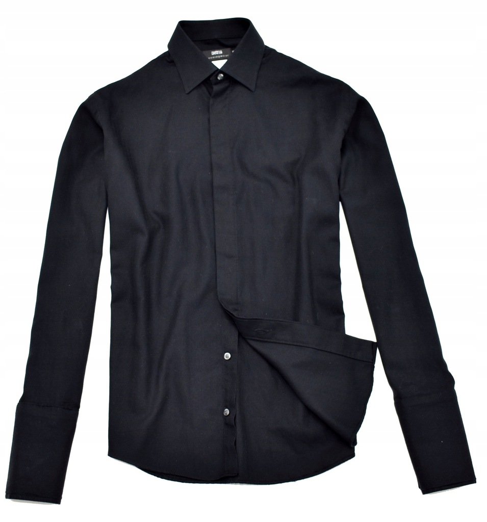 MM 381 M&S_PRESTIGE BLACK EVENING SHIRT_L