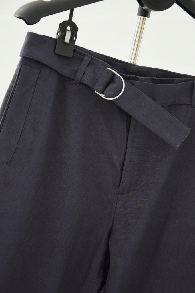 cos granatowe spodnie chinos bawełna pasek r. 46/S