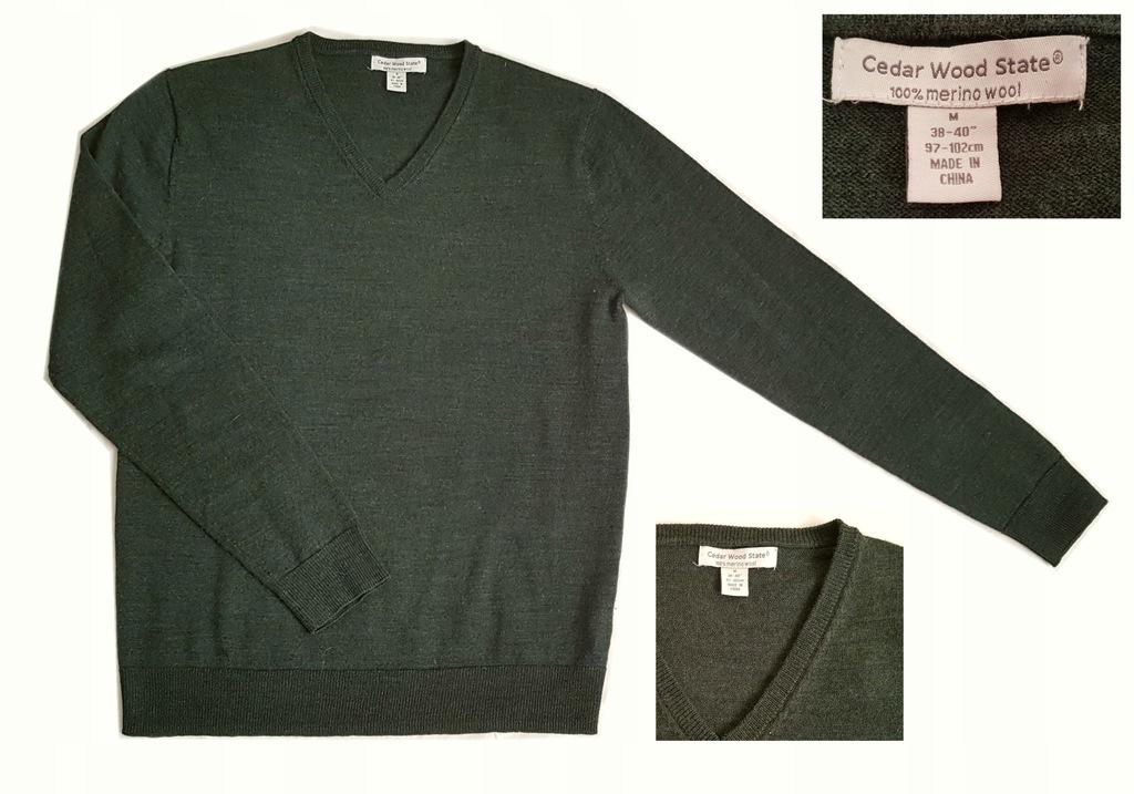 Sweter Cedar Wood 100% wełna merino wool M