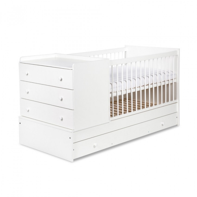 KLUPŚ Łóżko Kompakt biały