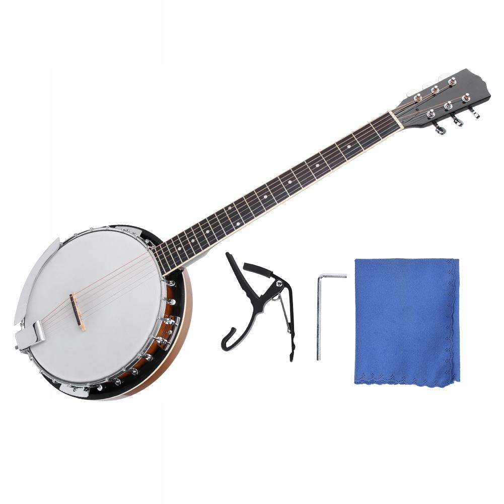 105cm*15cm Banjo 6-strunowe Instrument banjo