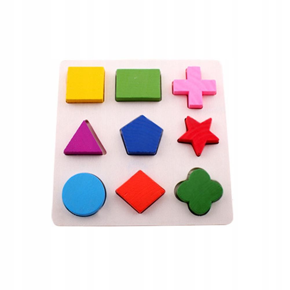 2 SZTUK Dzieci Edukacyjne Puzzle Układanki Kształt