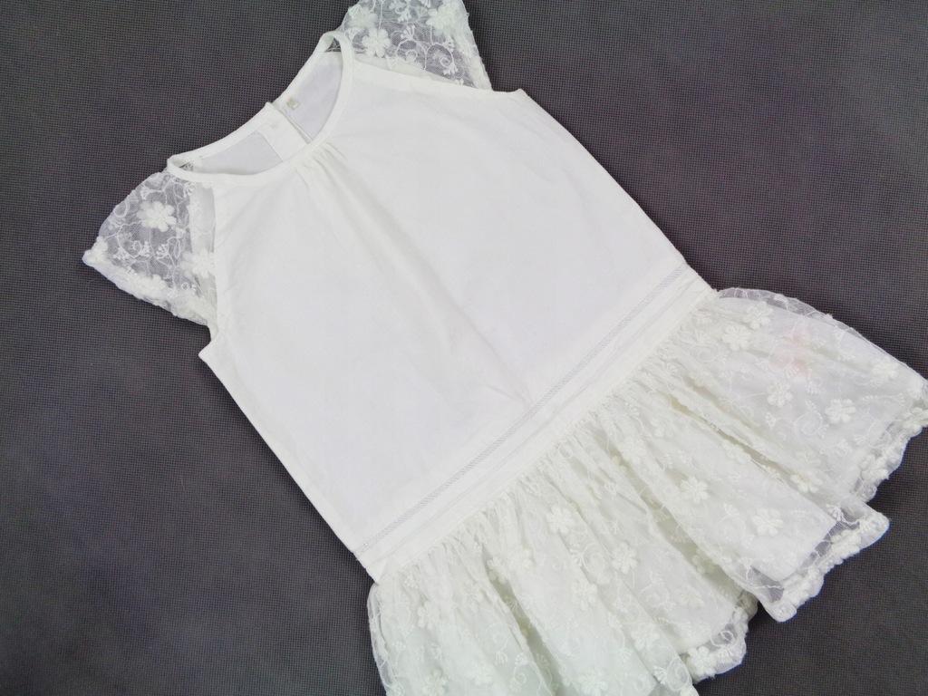 Y.D. biała sukienka Koronki Lato Jak Nowa 92 cm