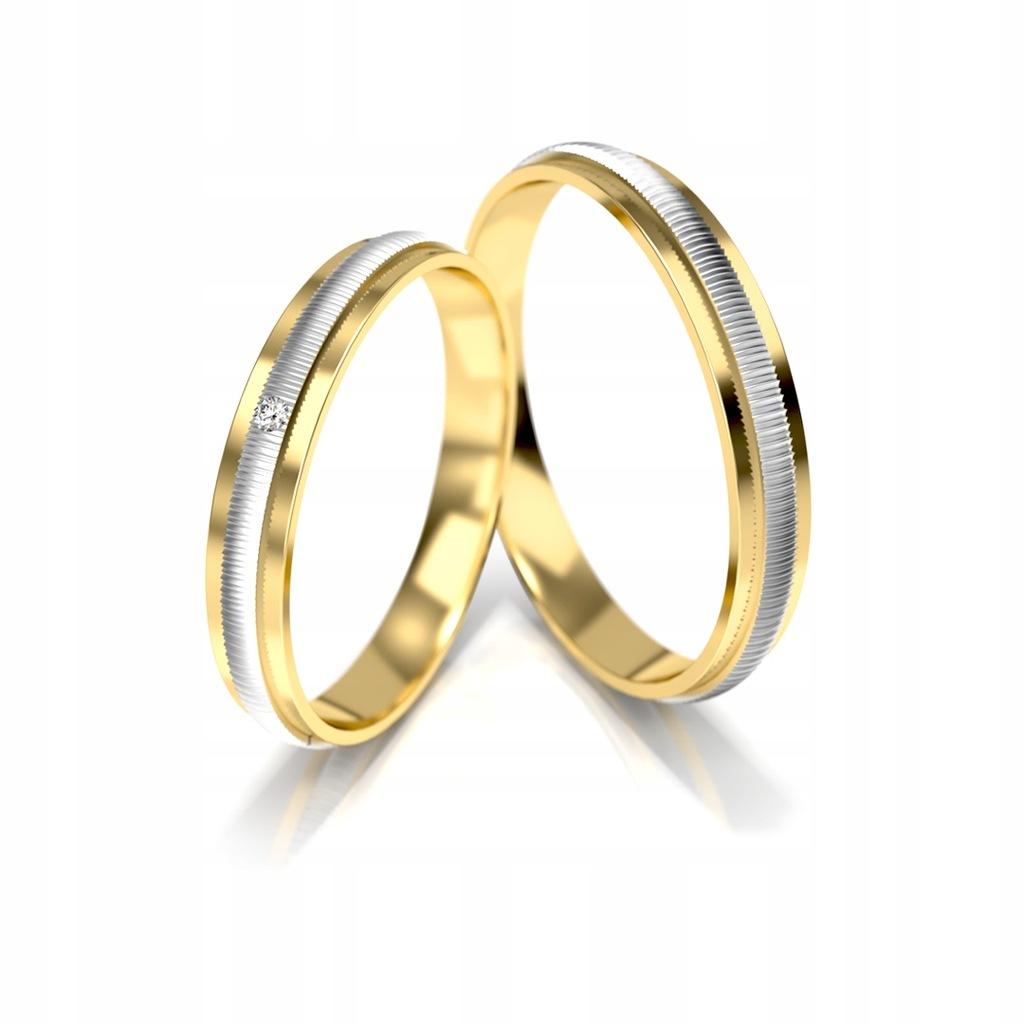 Złote obrączki ślubne 328 ST pr.585
