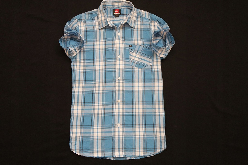 QUIKSILVER koszula niebieska kratka logowana_____M