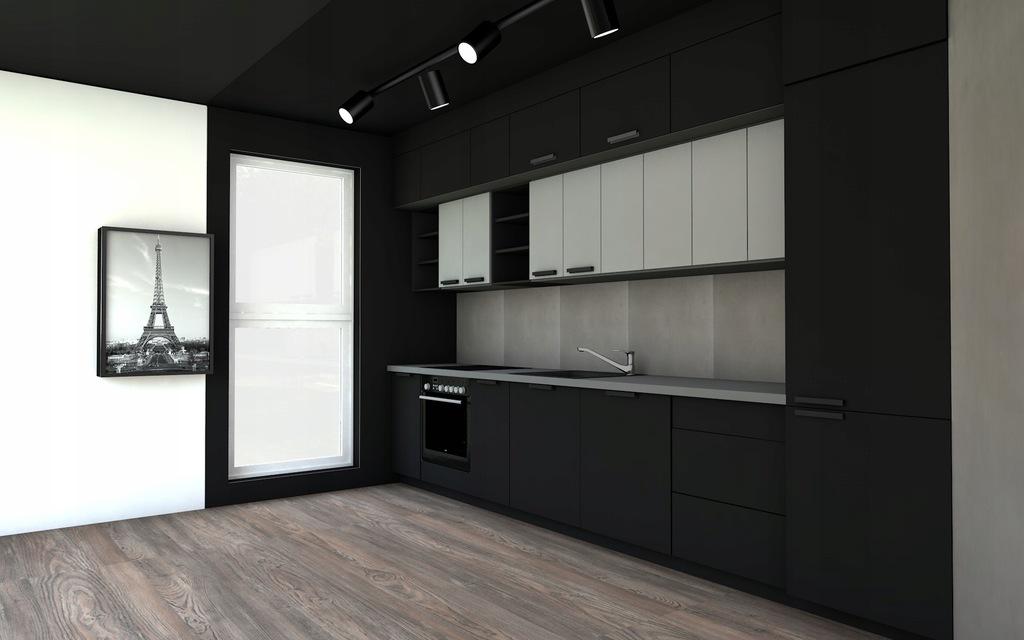Kuchnia w stylu industrialny loft - lakierowana