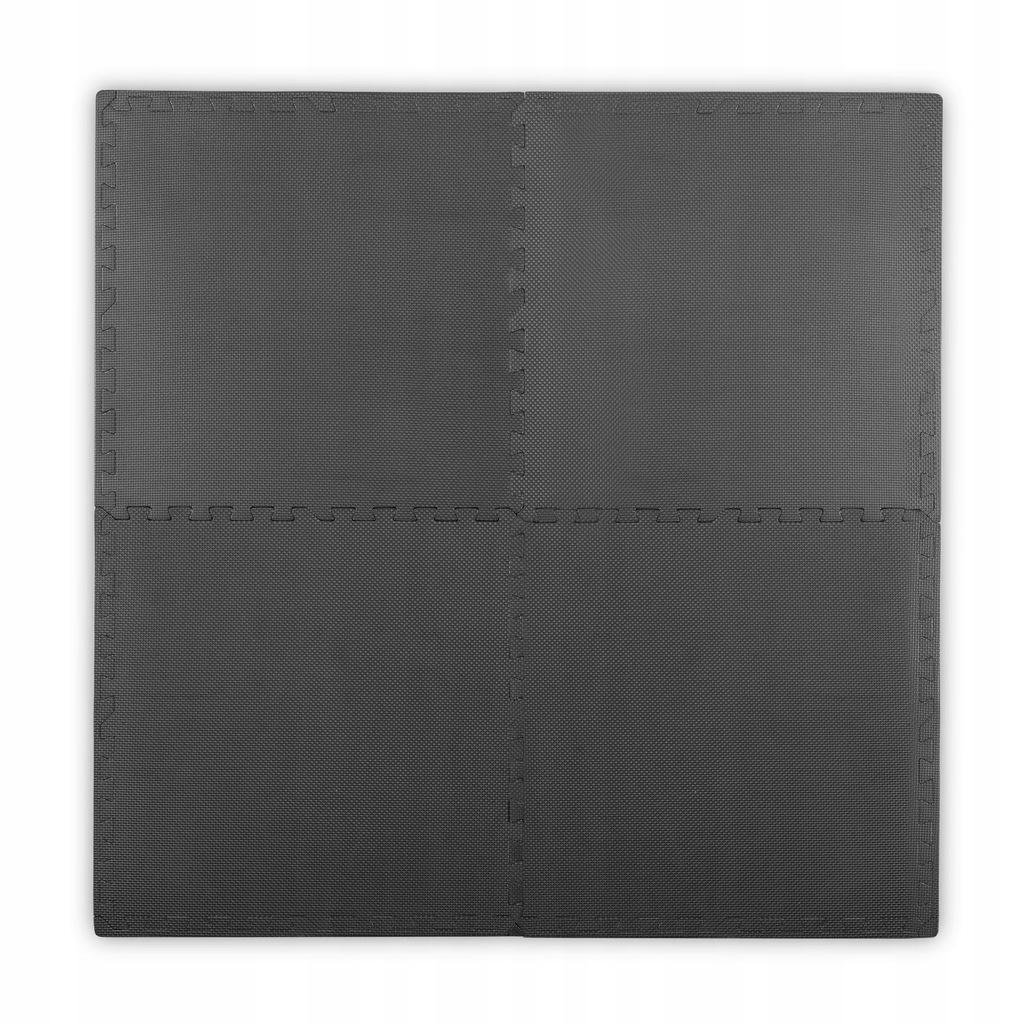 Duża mata piankowa, puzzle 4 szt. czarna