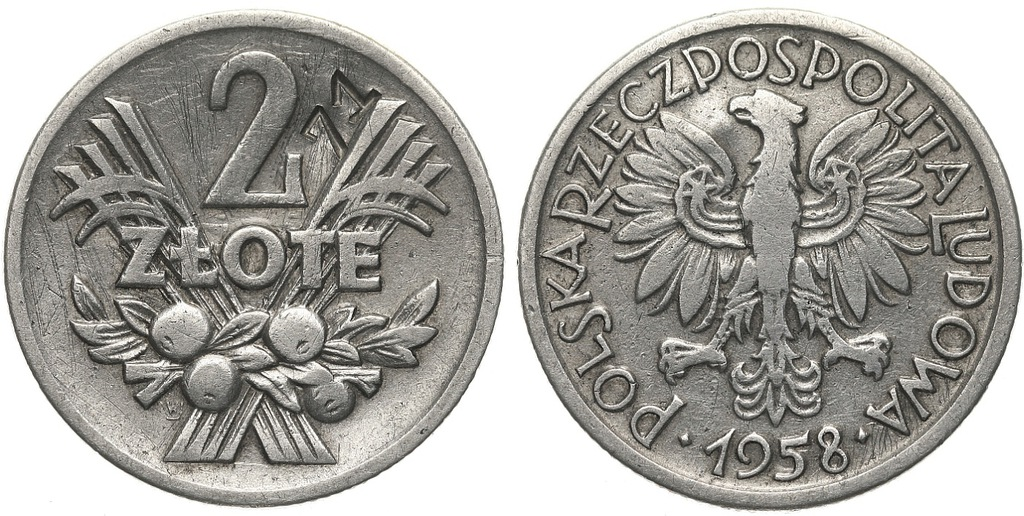 239.Polska - PRL - 2 zł - punca 71 -1958 - St.3 #A