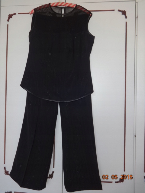 Spodnie i bluzka kpl czarny wizytowy rozm 42