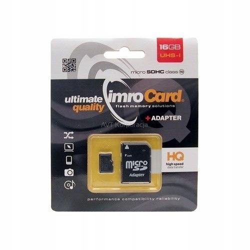 Karta pamięci microSD 16GB Imro+ adp 10C
