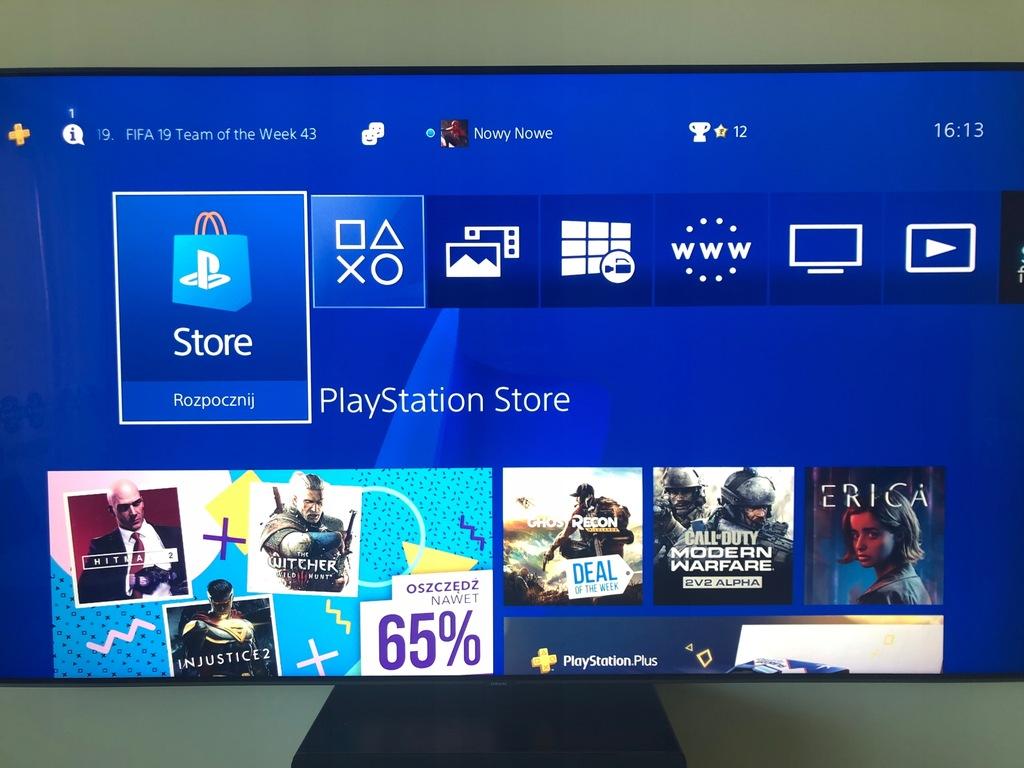 Konsola Playstation 4 + PADY + 14 gier