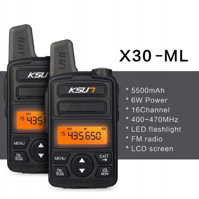 Radiotelefon Walkie Talkie krótkofalówka X30-ZS