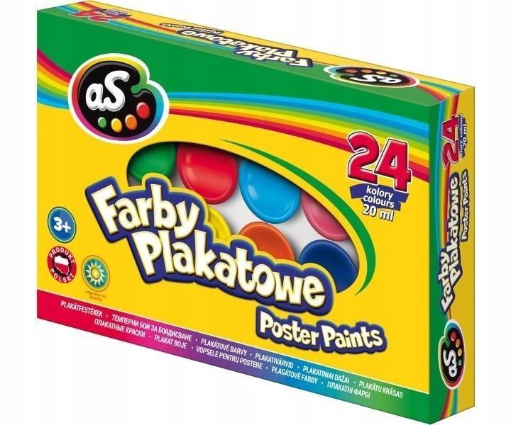Farby plakatowe 24 kolory 20ml AS
