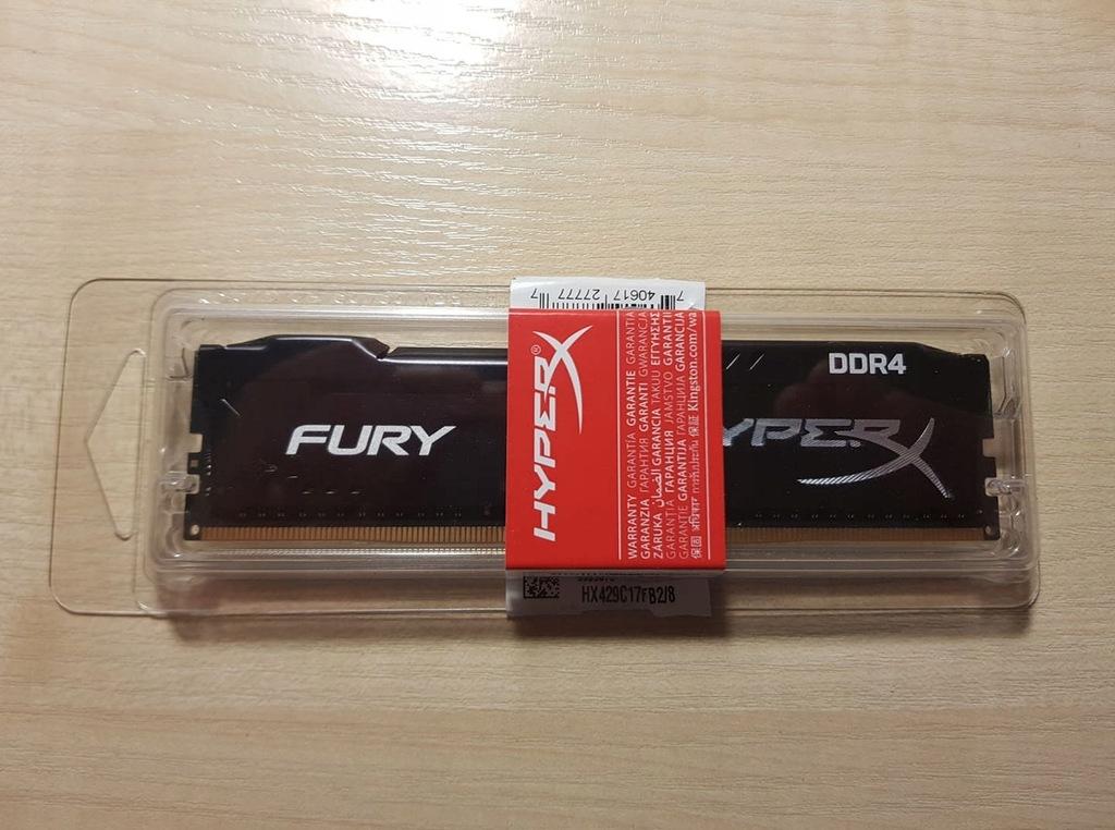 Pamięć RAM DDR4 Kingston HyperX Fury 8GB 2933 MHz