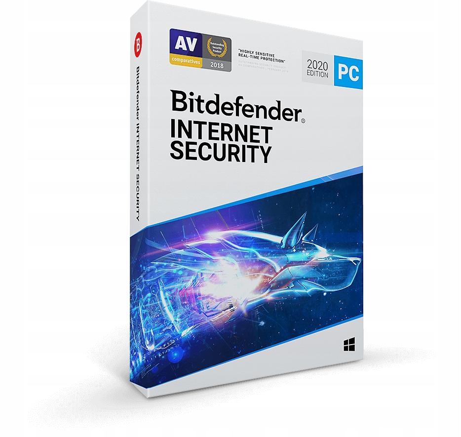 Bitdefender Internet Security 2020 3PC/1Y ESD kont