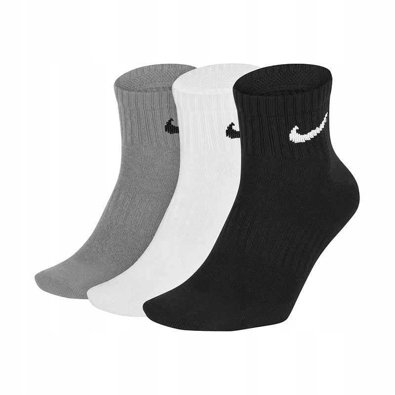 Nike Everyday Crew 3Pak skarpety niskie 42-46