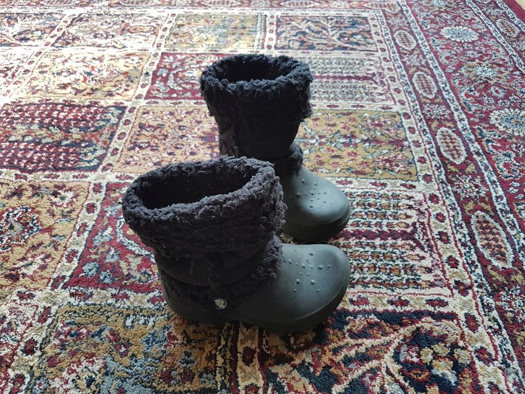Crocs ocieplane śniegowce r. C 12 13 r. 29-30
