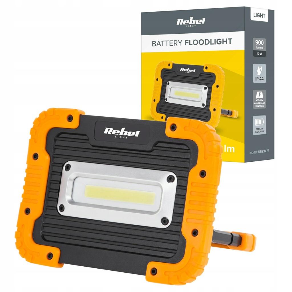 Lampa LED 4000K Reflektor akumulatorowy 10W