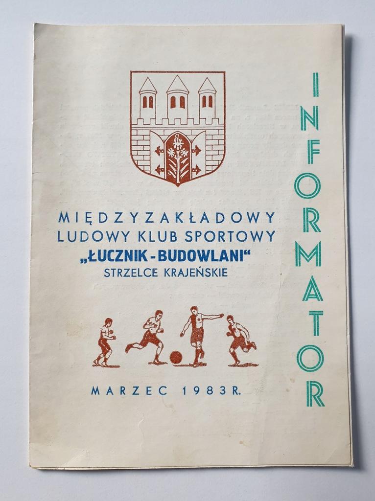 PROGRAM ŁUCZNIK-BUDOWLANI STRZELCE 1983