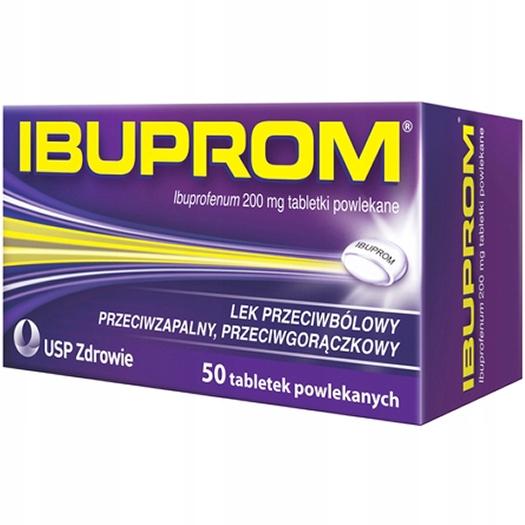Ibuprom 200 mg stany zapalne gorączka ból 50 tabl