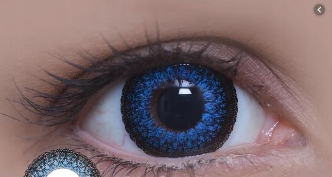 Soczewki Kolorowe Colourvue EYELUSH BLUE -2,75